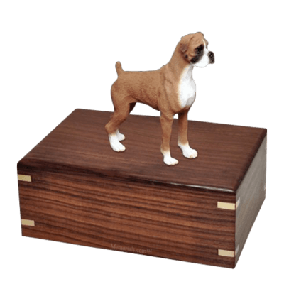 Standing Boxer Large Doggy Urn