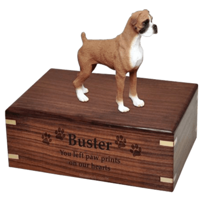 Standing Boxer X-Large Doggy Urn