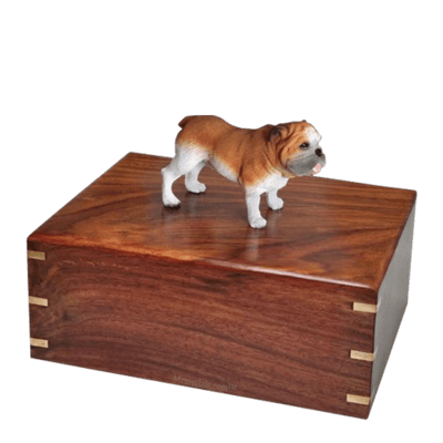 Standing Bulldog Large Doggy Urn