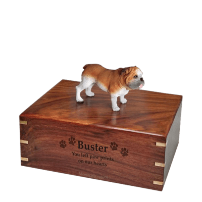 Standing Bulldog Medium Doggy Urn