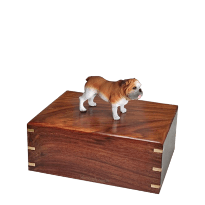 Standing Bulldog Small Doggy Urn