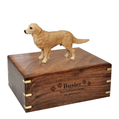 Standing Golden Retriever Large Doggy Urns