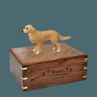 Standing Golden Retriever Medium Doggy Urn