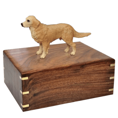 Standing Golden Retriever Doggy Urns