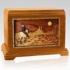 Horse Moon Mahogany Hampton Cremation Urn