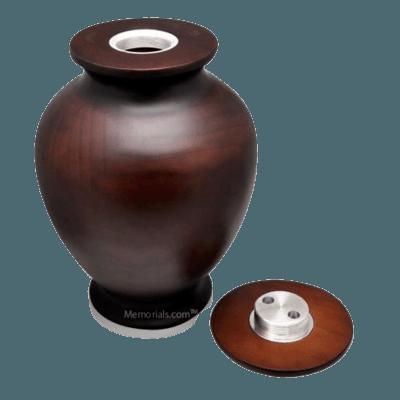 Sumptuous Wood Cremation Urn