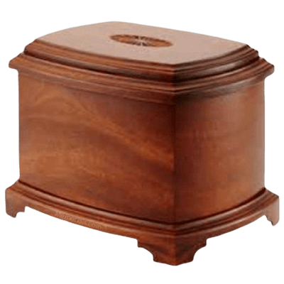 Sunburst Wood Cremation Urn