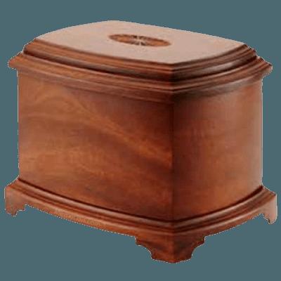 Sunburst Wood Cremation Urn