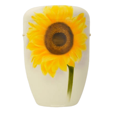 Sunflower Biodegradable Urn