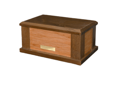 Supreme Brown Wood Cremation Urn
