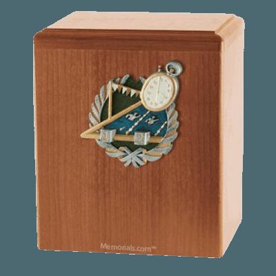 Swimmer Light Cherry Cremation Urn