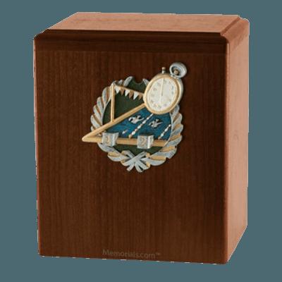 Swimmer Walnut Cremation Urn
