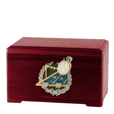 Swimming Rosewood Cremation Urn