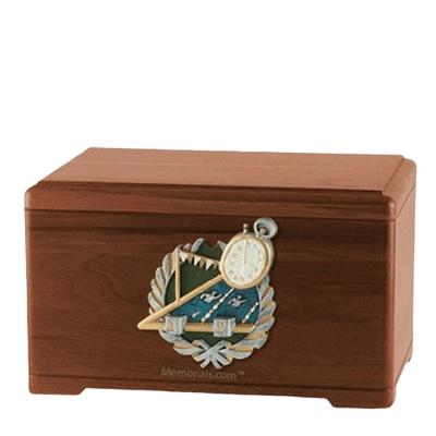 Swimming Walnut Cremation Urn