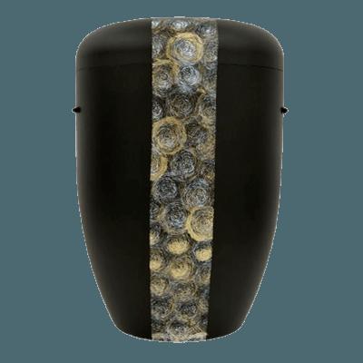 Swirls Biodegradable Urn in Black