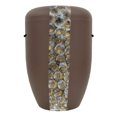 Swirls Biodegradable Urn in Brown