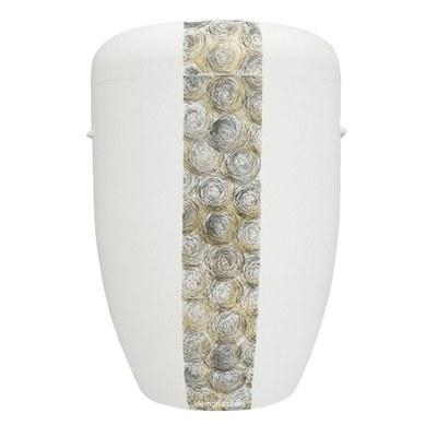 Swirls Biodegradable Urn in White