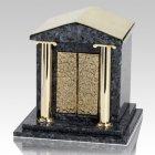 House Of God Blue Pearl Granite Cremation Urn