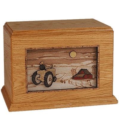 Tractor & Moon Mahogany Companion Urn