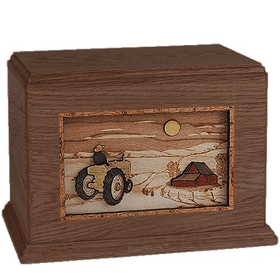 Tractor & Moon Walnut Companion Urn