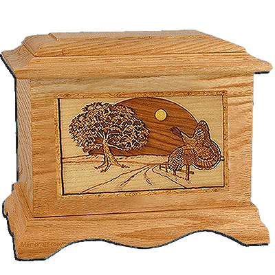 Turkey Oak Cremation Urn For Two