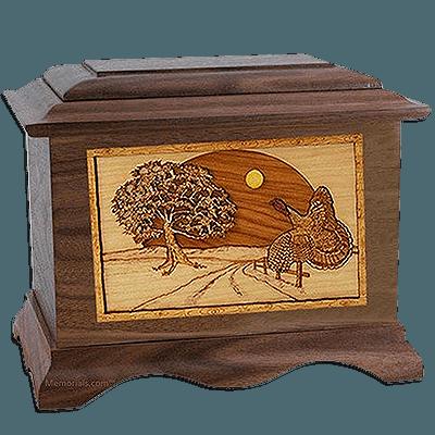 Turkey Walnut Cremation Urn For Two