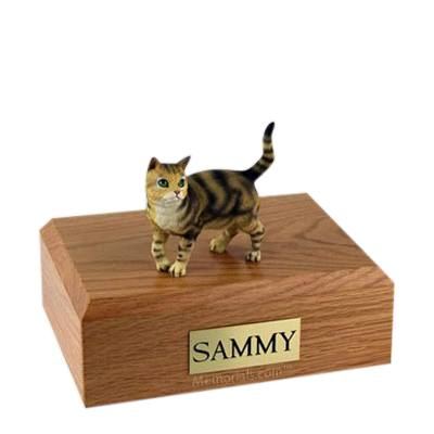 Tabby Brown Standing Large Cat Cremation Urn