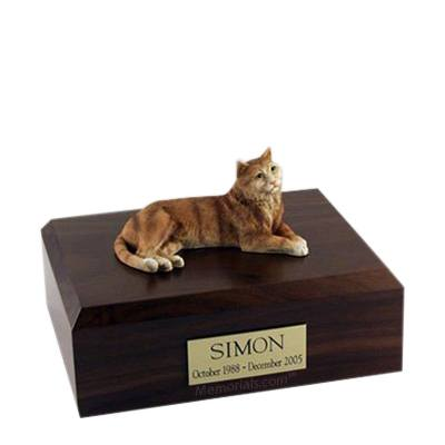 Tabby Orange Large Cat Cremation Urn