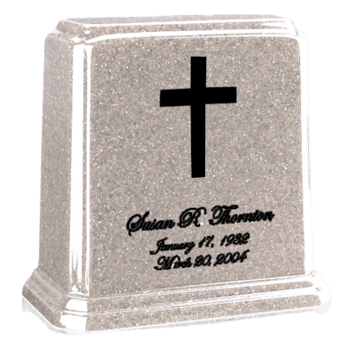 Tablet Frost Marble Urn