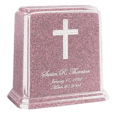 Tablet Lavender Marble Urn