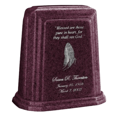 Tablet Millennium Burgundy Marble Urn