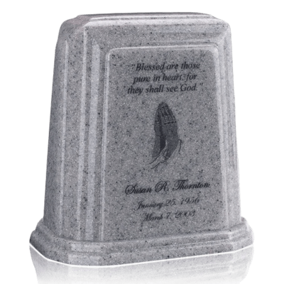 Tablet Millennium Gray Marble Urn