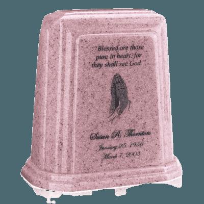 Tablet Millennium Rose Marble Urn