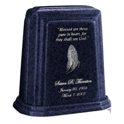Tablet Millennium Sapphire Blue Marble Urn