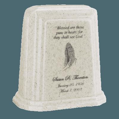 Tablet Millennium Frost Marble Urn