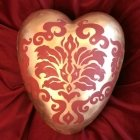 Tapestry Ceramic Heart Urn
