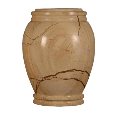 Teakwood Traditional Marble Cremation Urn