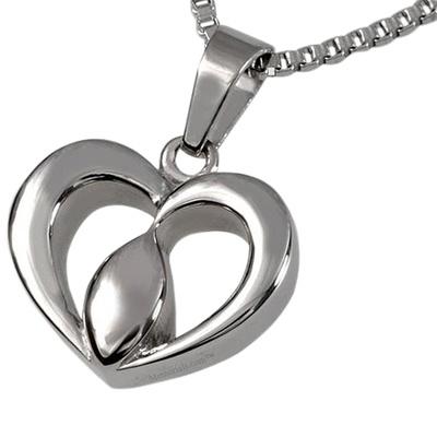 Tear Heart Cremation Pendant
