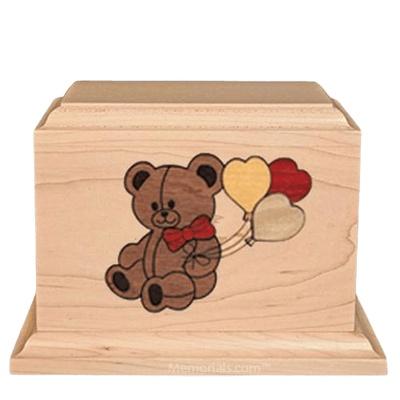 Teddy Children Wood Urn