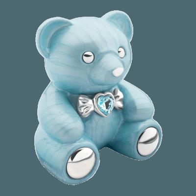 Teddy Blue Childrens Cremation Urn