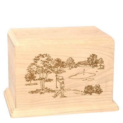 Tee Time Companion Maple Wood Urn