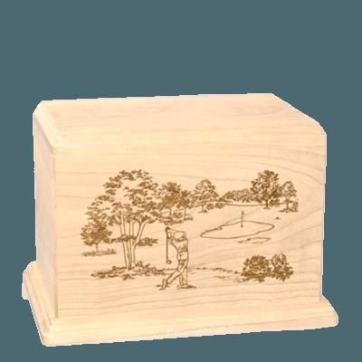 Tee Time Individual Maple Wood Urn