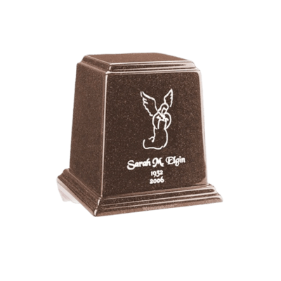 Temple Chocolate Keepsake Marble Urn