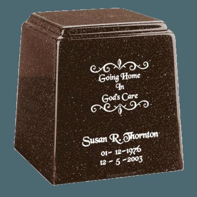 Temple Niche Chocolate Marble Urn