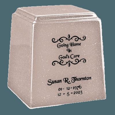 Temple Niche Cream Marble Urn