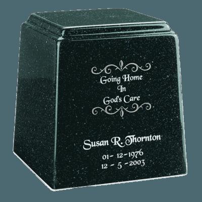 Temple Niche Emerald Marble Urn