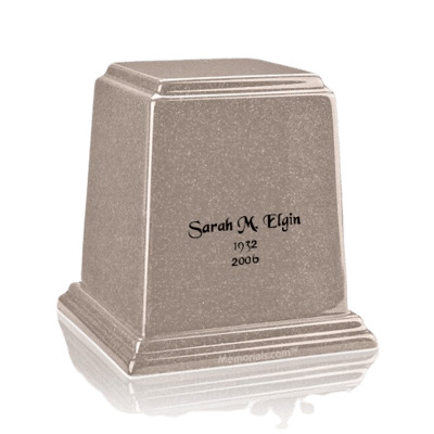 Temple Cream Small Marble Urn