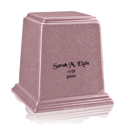Temple Rose Medium Marble Urn