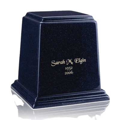 Temple Sapphire Blue Medium Marble Urn