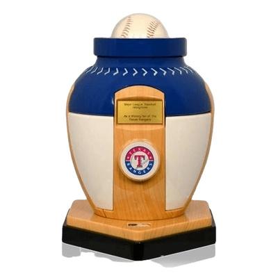 Texas Rangers Baseball Cremation Urn